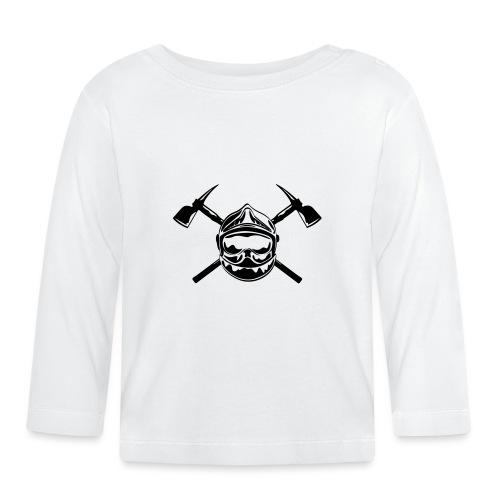 casque_pompier_2 haches - T-shirt manches longues Bébé
