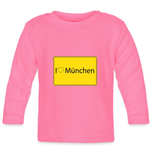 I love München - Baby Langarmshirt