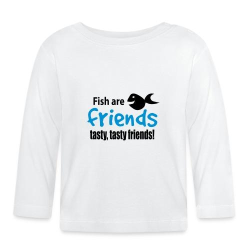 Fisk er venner - Langarmet baby-T-skjorte