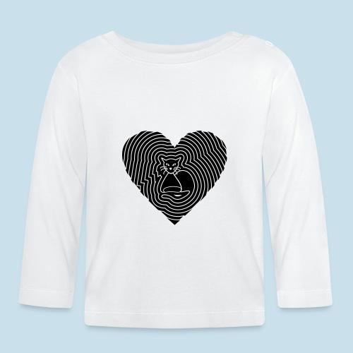 Katzen Spirale Herz - Baby Langarmshirt