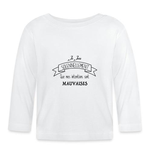 Je jure solennellement - T-shirt manches longues Bébé
