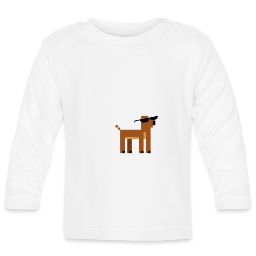 Christmas Xmas Deer Pixel Funny - Baby Long Sleeve T-Shirt