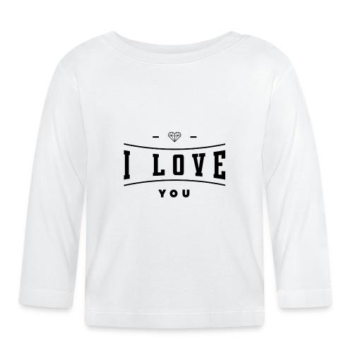 i love you2 - Koszulka niemowlęca z długim rękawem
