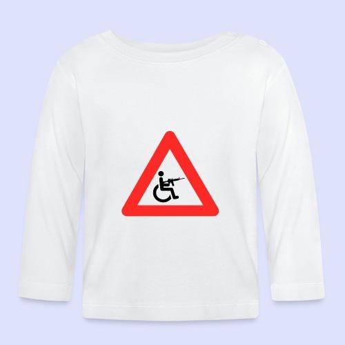 Pas op rolstoel gebruiker met wapen 003 - T-shirt