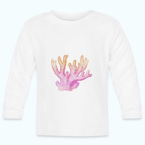 Pastel chalk coral - Baby Long Sleeve T-Shirt