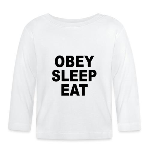 obey sleep - T-shirt manches longues Bébé