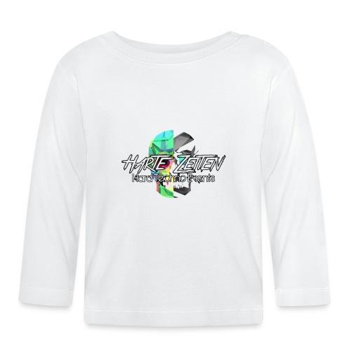 Harte Zeiten Skull & Schriftzug - Baby Langarmshirt