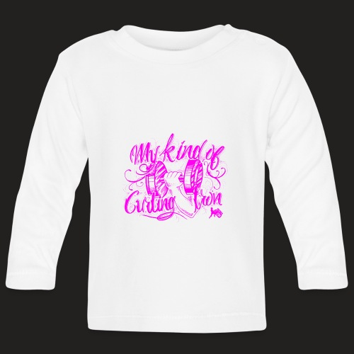 CURLING PURPLE.png - Baby Long Sleeve T-Shirt