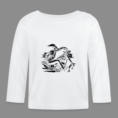 Motorcycle Skull - Camiseta manga larga bebé