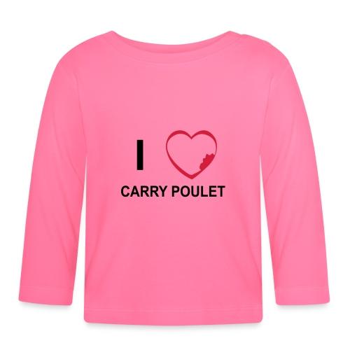 i love CARRY POULET - T-shirt manches longues Bébé