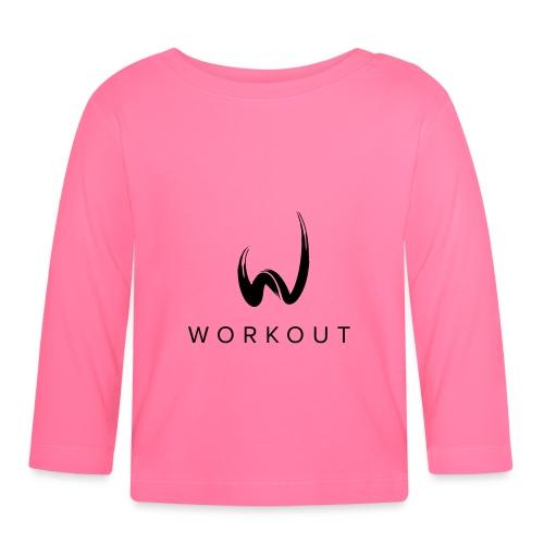 Workout mit Url - Baby Langarmshirt