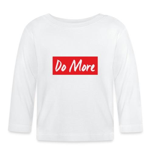 white logo color background - T-shirt manches longues Bébé