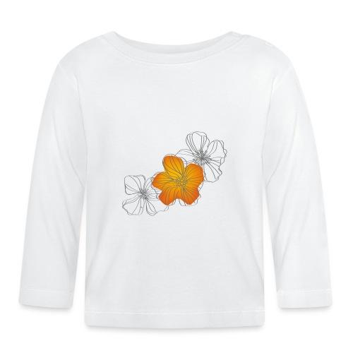 Flowers - Camiseta manga larga bebé