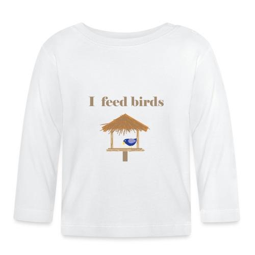 I feed birds - Vauvan pitkähihainen paita
