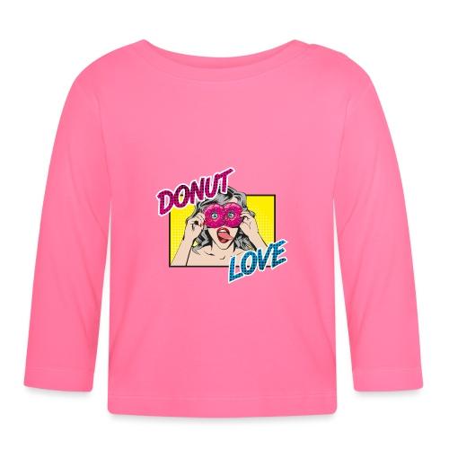 Popart - Donut Love - Zunge - Süßigkeit - Baby Langarmshirt