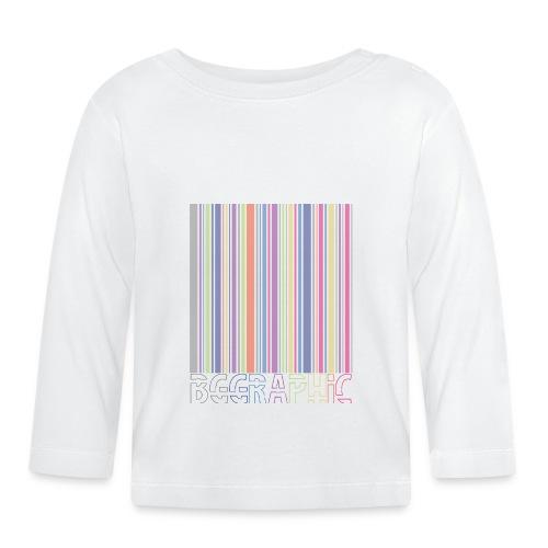 Bar code - Koszulka niemowlęca z długim rękawem