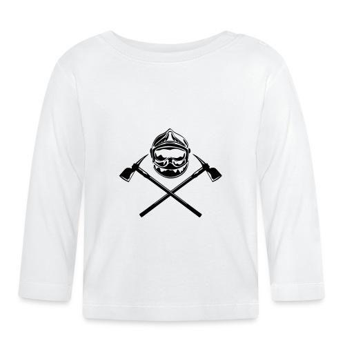 casque_pompier_deux haches - T-shirt manches longues Bébé