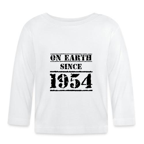 on Earth since 1954 65 Geburtstag Happy Birthday - Baby Long Sleeve T-Shirt