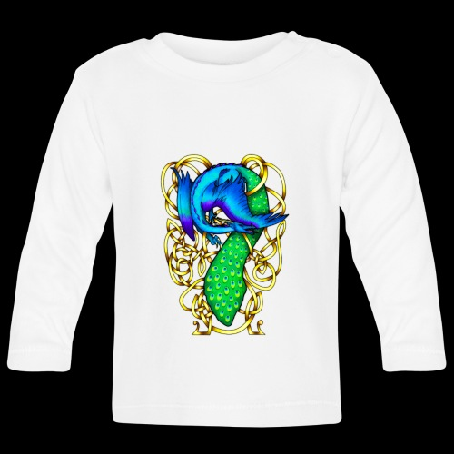 Peacock Dragon - Baby Long Sleeve T-Shirt