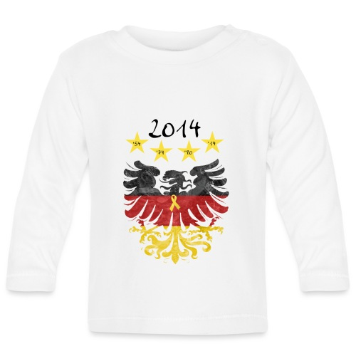 Gelbe Schleife - Baby Langarmshirt