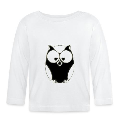 ugler3-png - Langærmet babyshirt