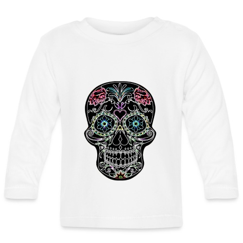 Floral Skull - Baby Long Sleeve T-Shirt