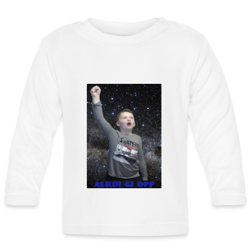 Kenti drar til verdensrommet og sier aldri gi opp - Langarmet baby-T-skjorte