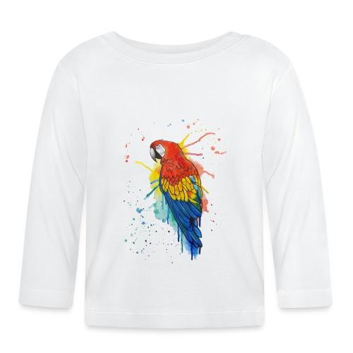 Parrot Watercolors Nadia Luongo - Maglietta a manica lunga per bambini