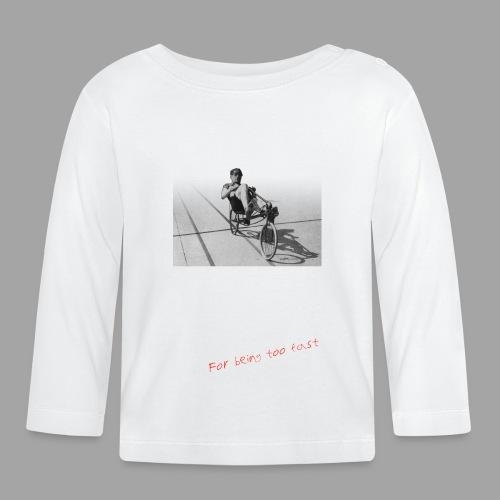 Recumbent Bike Banned since 1934 - Vauvan pitkähihainen paita
