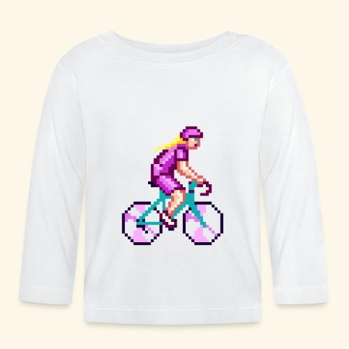 CICLISTA FEMMINILE PIXEL ART colore 1 - Maglietta a manica lunga per bambini