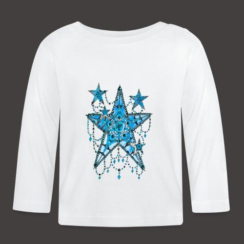 ETOILE DENTELLE BLEUE - T-shirt manches longues Bébé