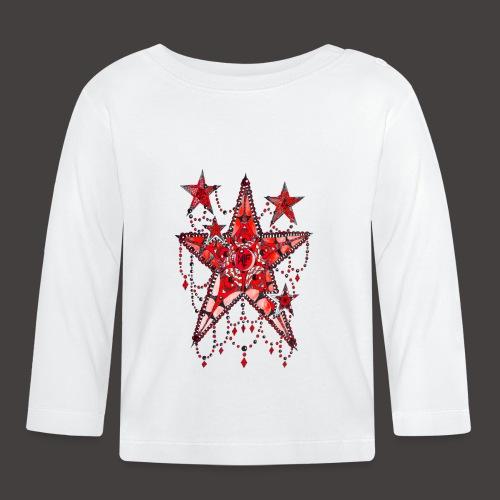 ETOILE DENTELLE ROUGE - T-shirt manches longues Bébé
