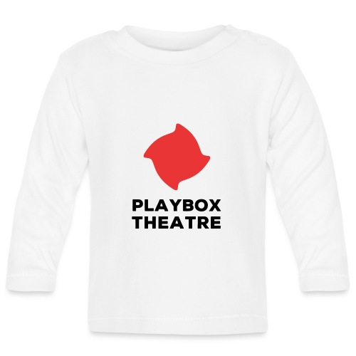 Red Playbox Logo Stacked - Baby Long Sleeve T-Shirt