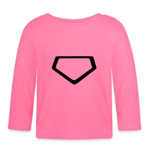 Baseball Homeplate Outline - Baby Long Sleeve T-Shirt