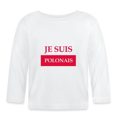 Je suis Polonais - Koszulka niemowlęca z długim rękawem