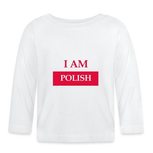 I am polish - Koszulka niemowlęca z długim rękawem