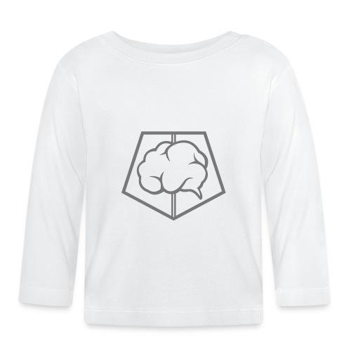 brainless-logo-grey - Maglietta a manica lunga per bambini