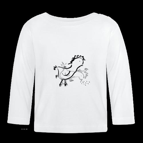 Das pickende Huhn - Baby Langarmshirt