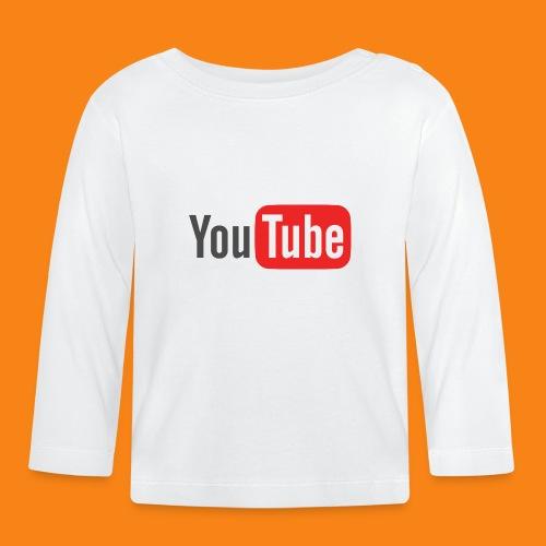 Youtube-logo-2014 - Camiseta manga larga bebé