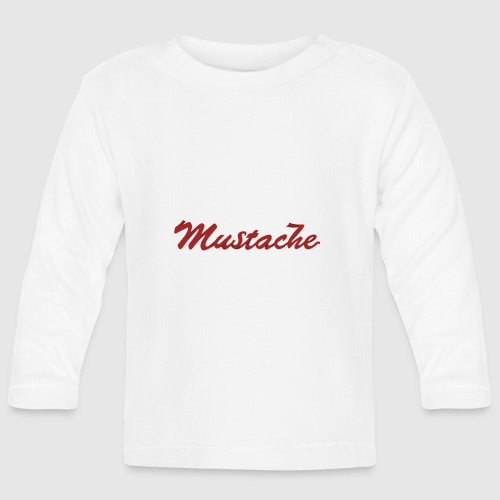 Red Mustache Lettering - Baby Long Sleeve T-Shirt