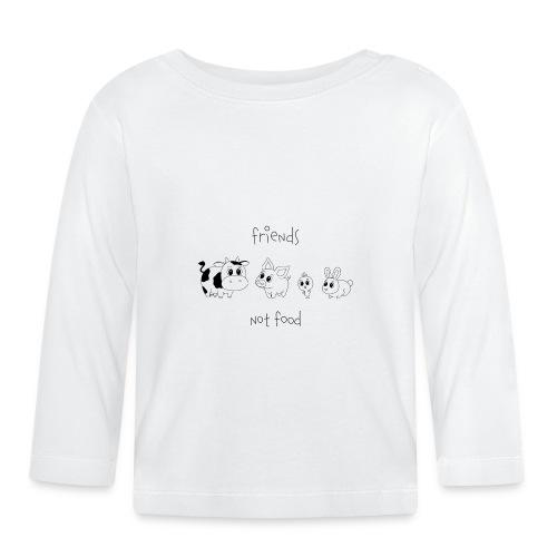Friends, not food! (Schwarz) - Baby Langarmshirt