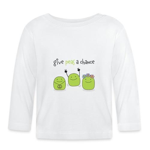 Give peas a chance! - Baby Langarmshirt
