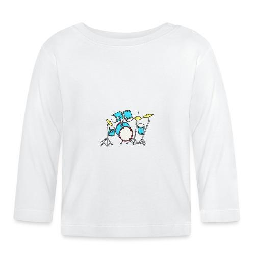 Luigi Drum White - Baby Long Sleeve T-Shirt