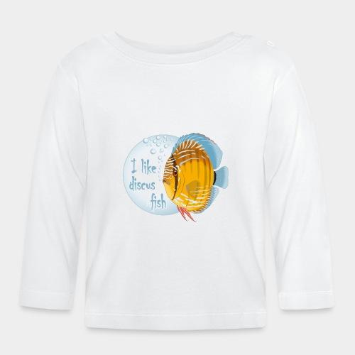 GHB Ich liebe Diskusfische 06112017 1 - Baby Langarmshirt