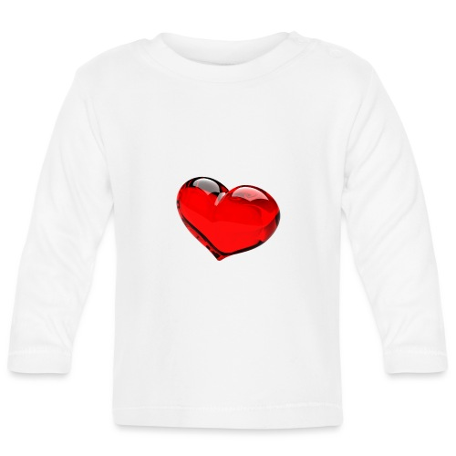 serce 3D - Koszulka niemowlęca z długim rękawem