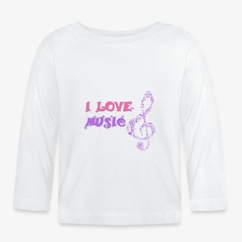 Love Music - Camiseta manga larga bebé