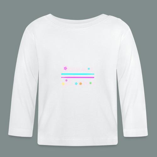Drummer girlpower rose - idee cadeau batteur - T-shirt manches longues Bébé