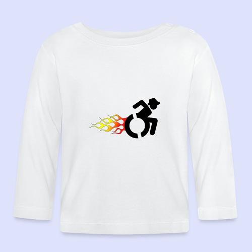 Rolstoel gebruiker met vlammen 008 - T-shirt