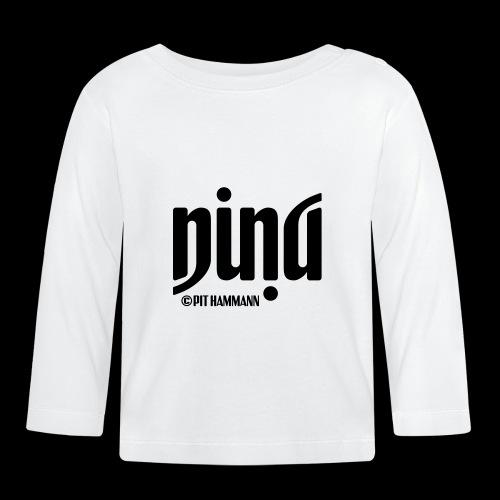 Ambigramm Nina 01 Pit Hammann - Baby Langarmshirt