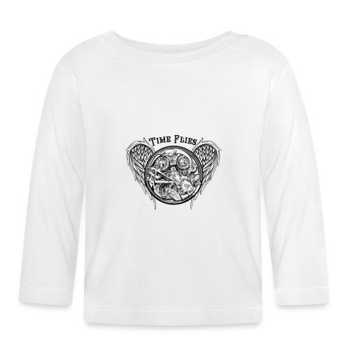 time flies - Camiseta manga larga bebé